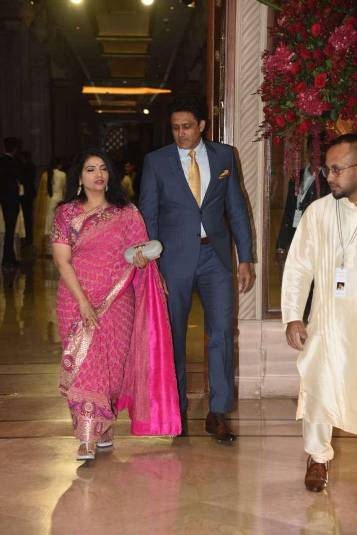 Anil Kumble with wife