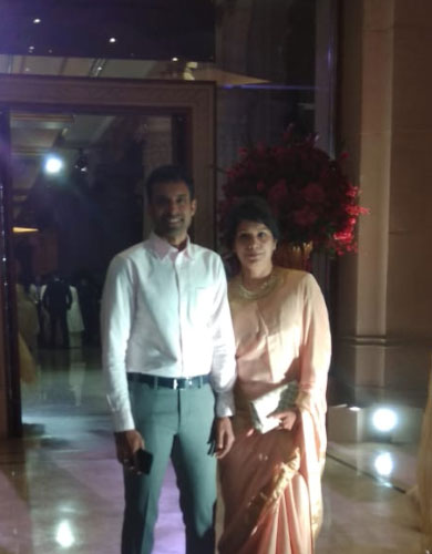Pullela Gopichand with wife
