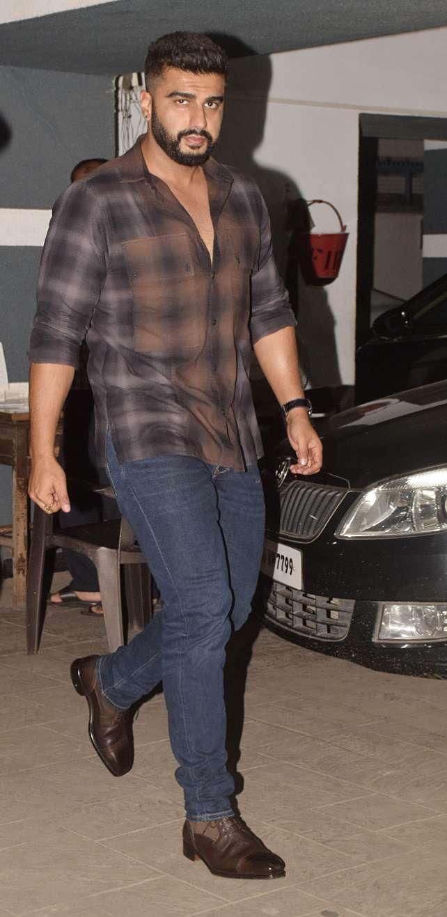 Arjun Kapoor at Shanaya Kapoor's birthday party