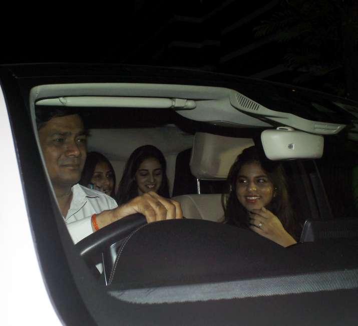 Suhana Khan atShanaya Kapoor's birthday party