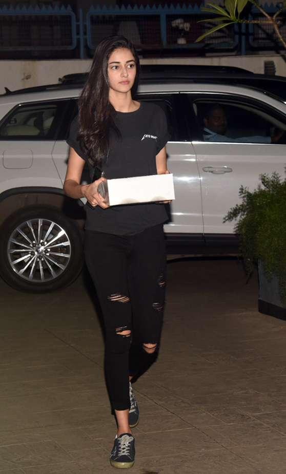 Ananya Panday atShanaya Kapoor's birthday party