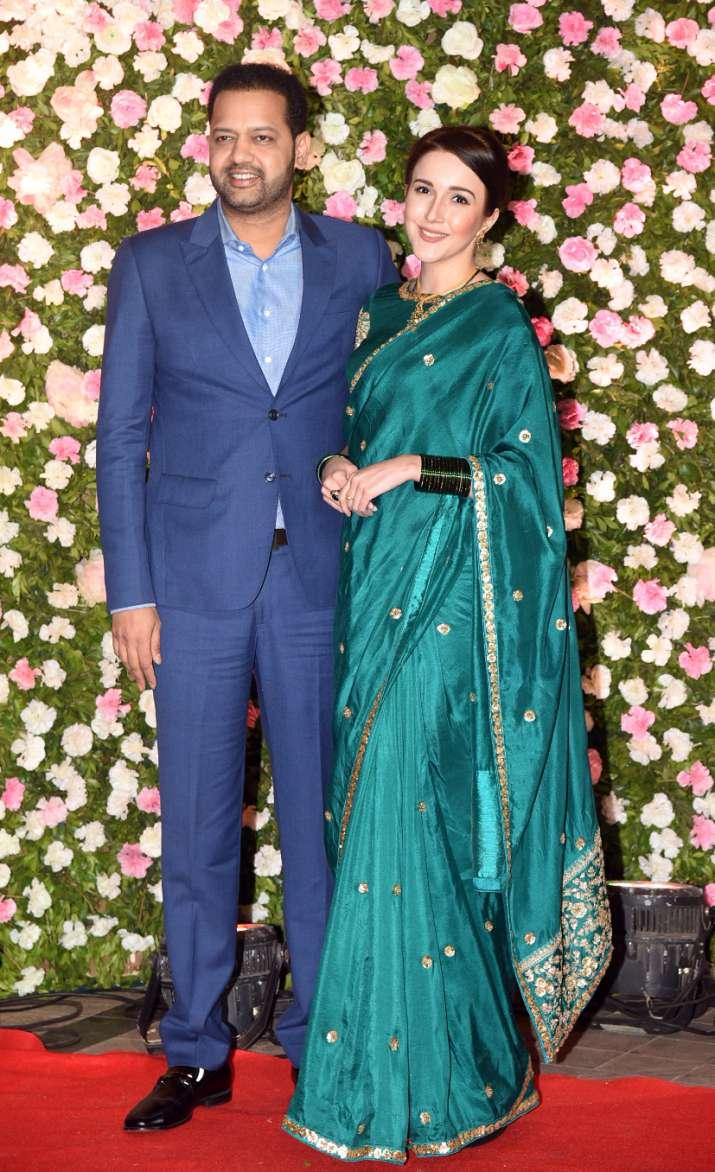 Rahul Mahajan with his wife