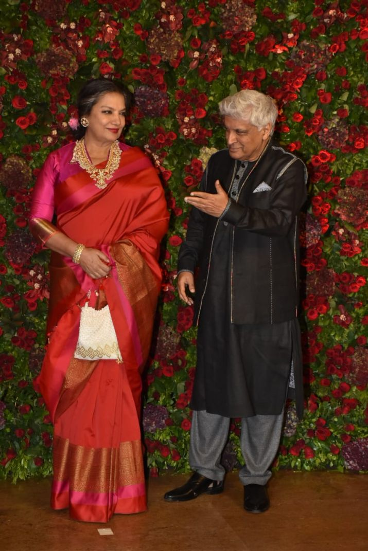 Shabana Azmi and Javed Akhat for DeepVeer reception