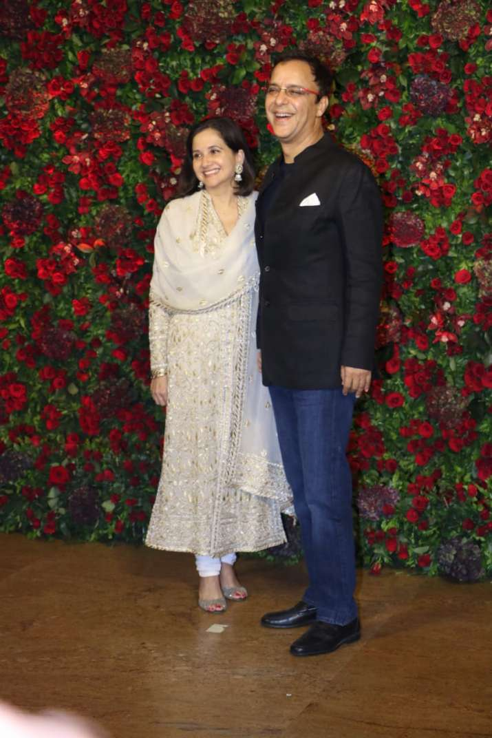 Vidhu Vinod Chopra with wife