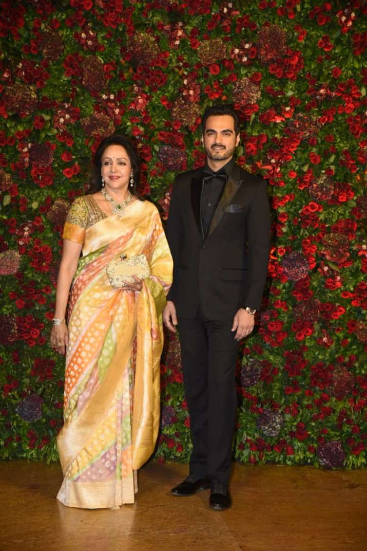 Hema Malini with her son in law Bharat Takhtani