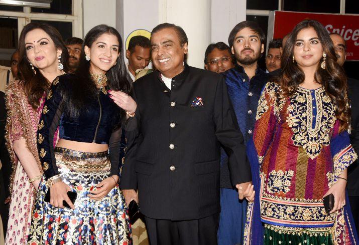 Mukesh Ambani, Nita Ambani, Isha Ambani, Anant Ambani, Radhika Merchant