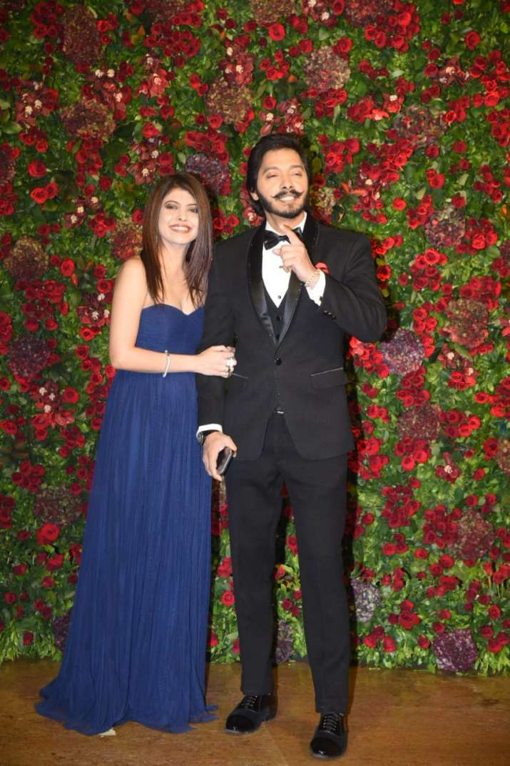 Shreyas Talpade with wife