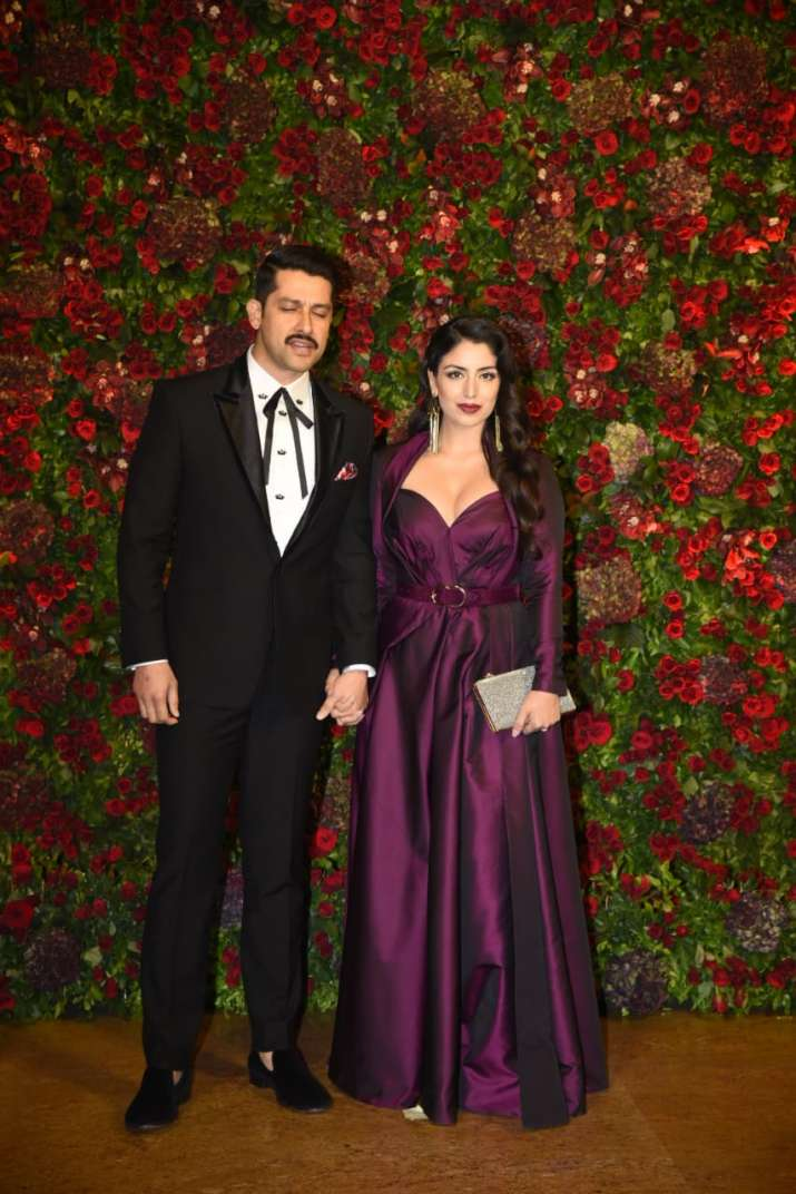Aftab Shivdasani with wife
