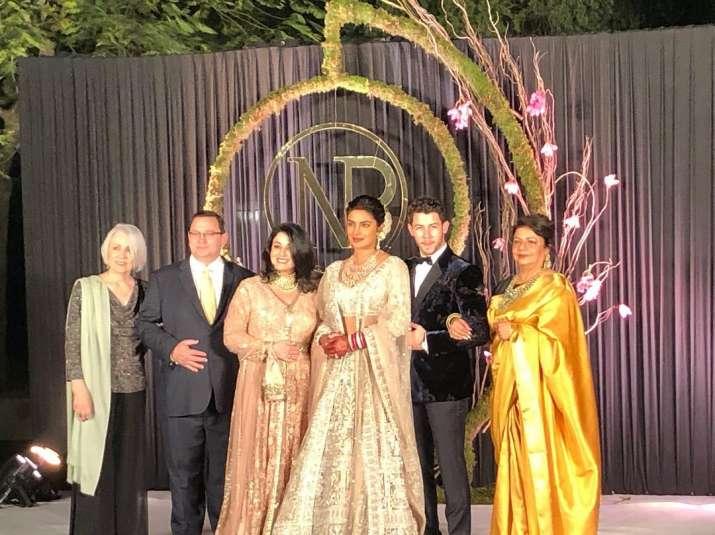 Priyanka chopra and Nick jonas Delhi Reception