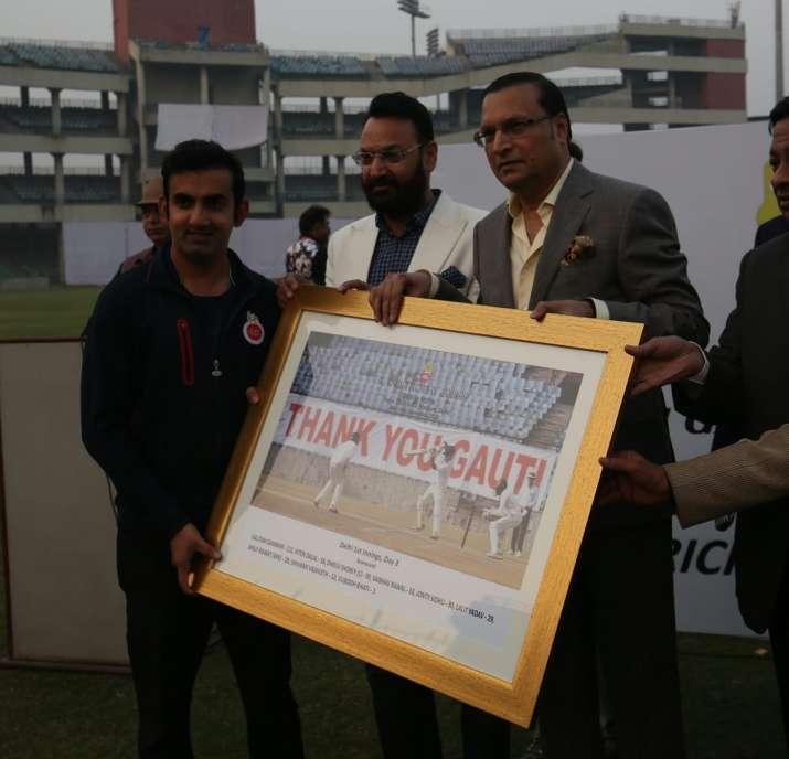 DDCA honours Gautam Gambhir