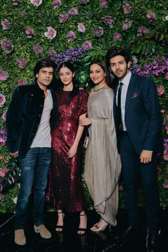 Ananya Panday, Sonakshi Sinha, Kartik Aaryan