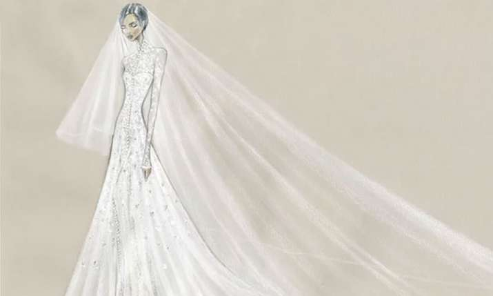Priyanka Chopra Wedding Dress Sketch