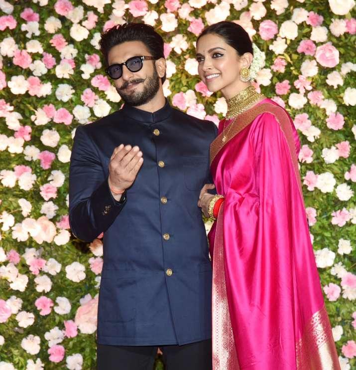 Deepika and ranveer in Kapila sharma and Ginni Wedding Reception