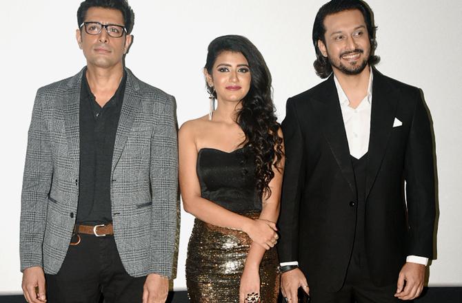 Priya Prakash Varrier at Sridevi Bungalow teaser launch