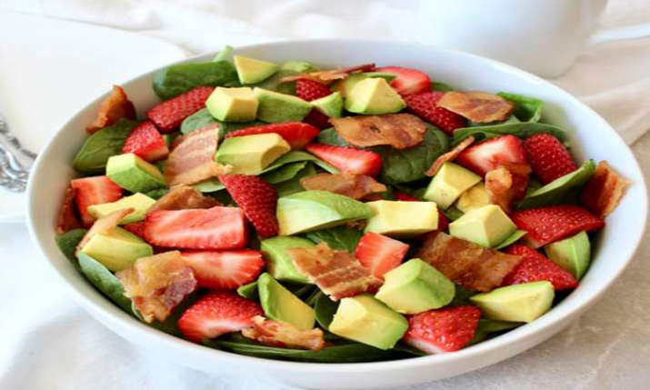 strawberry and avocado