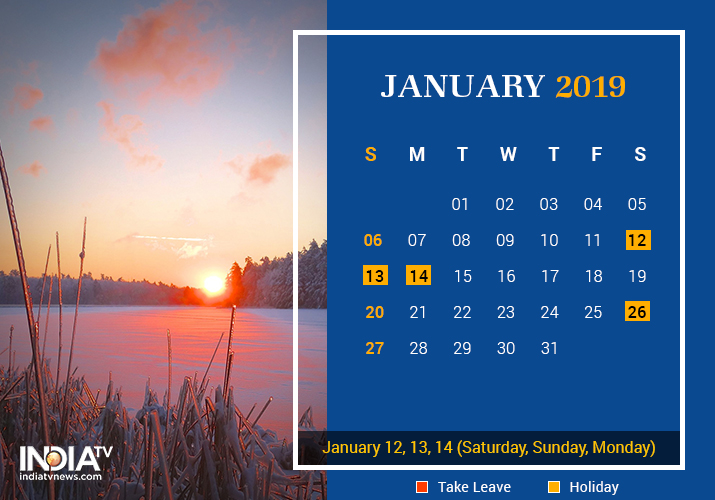 January long weekend 2019