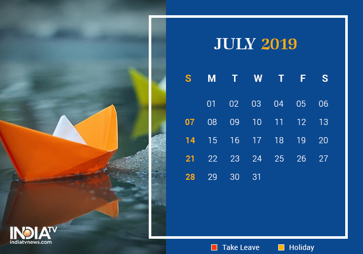 July long weekend 2019