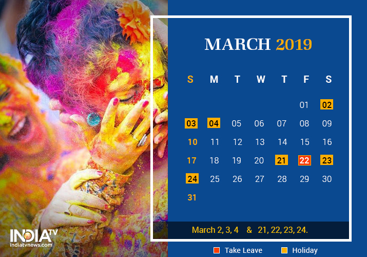 March long weekend 2019
