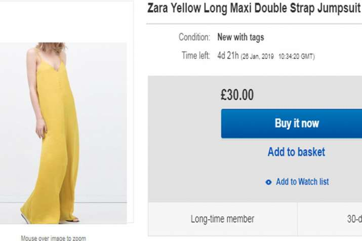 Zara Jumbsuit in ebay