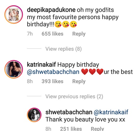 Deepika, Katrina's comment