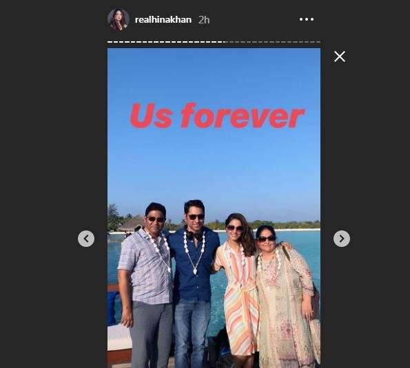 Hina Khan Instagram Story