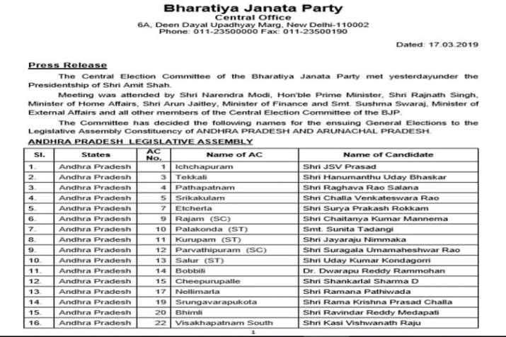 Andhra Pradesh assembly elections