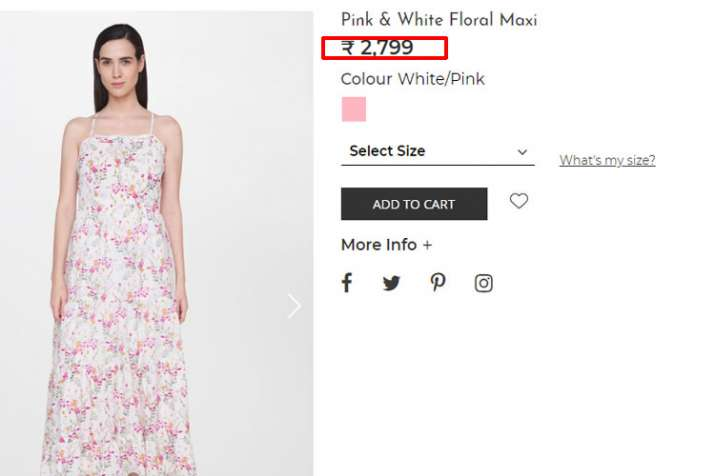 Pink & White Floral Maxi