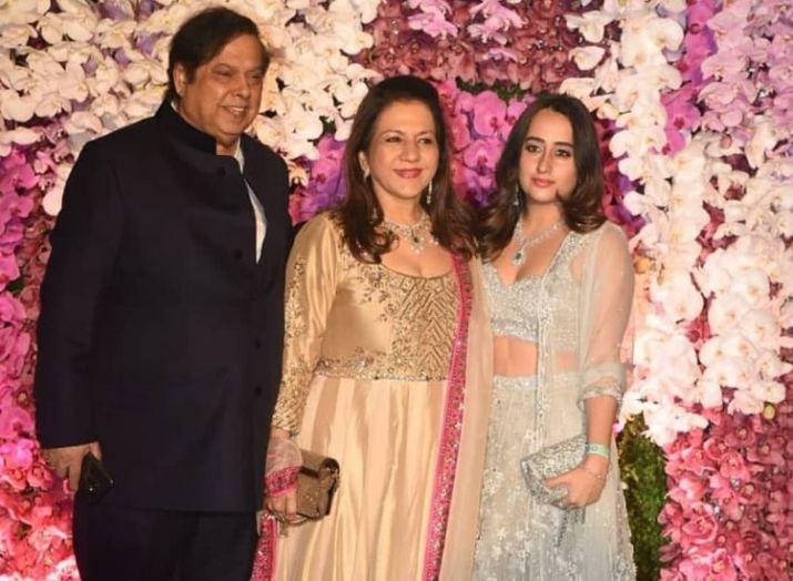 Natasha Dalal with Varun Dhawan's parents
