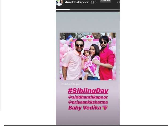 Shraddha Kapoor's Instagram story