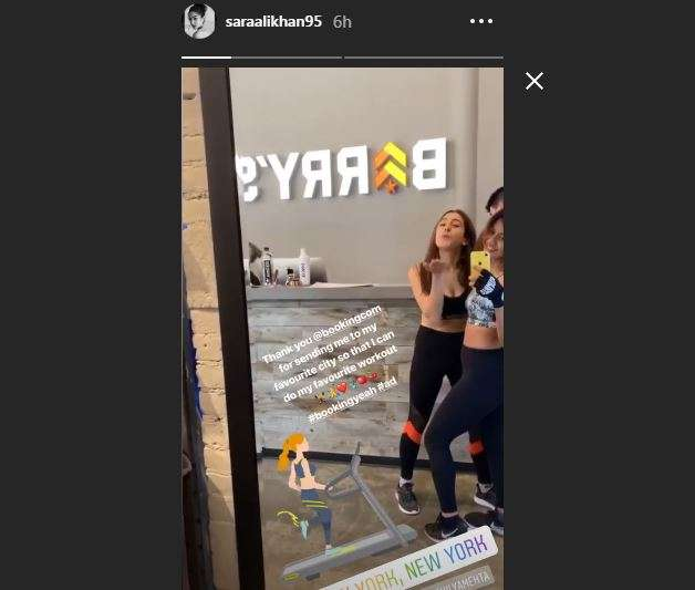 Sara Ali Khan Instagram Story