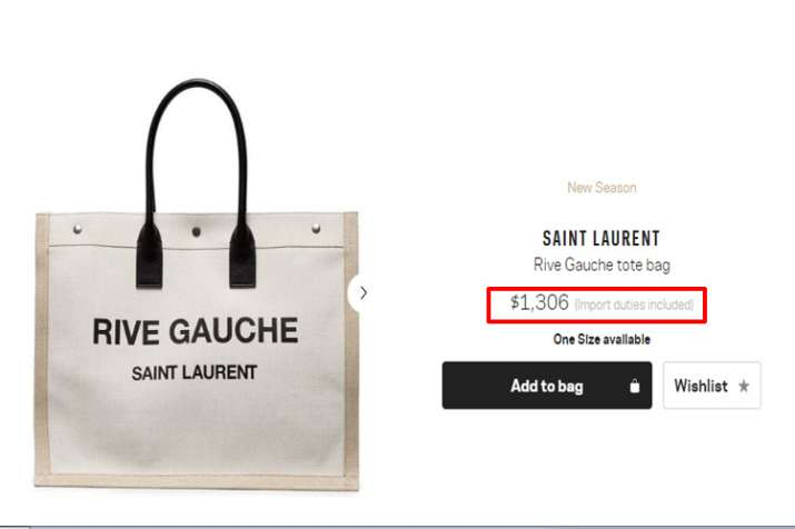 Saint Laurent, Tote bag
