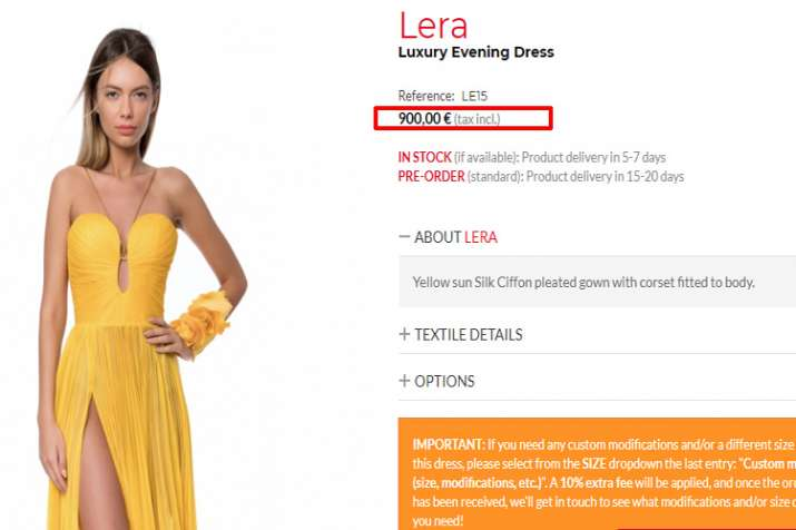 Iris Serban evening gown
