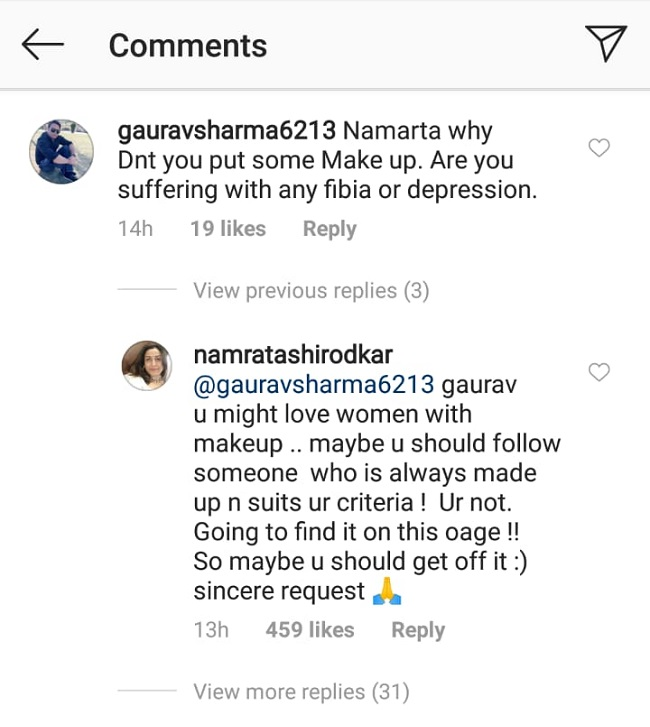 Namrata Shirodkar Instagram screenshot
