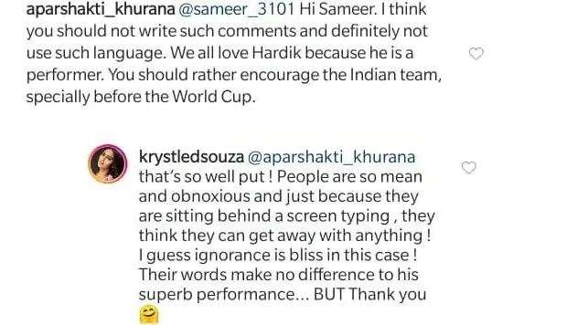 Krystle D'souza Posted a photo with Hardik Pandya, People called him kalu bhai