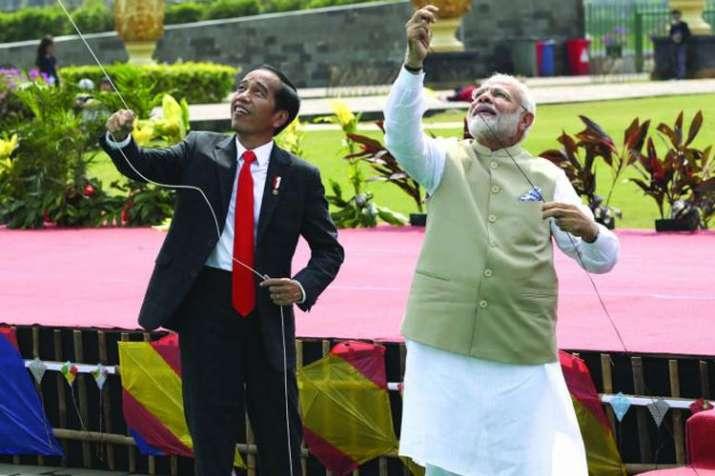 Joko Widodo with PM Narendra Modi