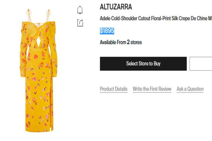 Altuzarra collection crepe dress