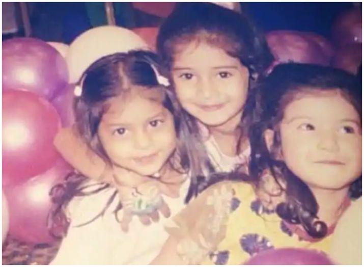 Childhood pictures of suhana khana and ananya panday