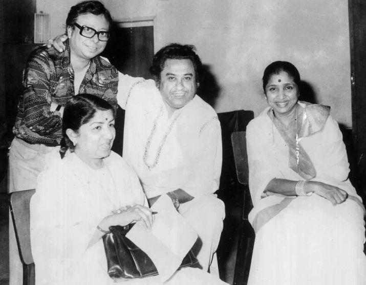 Pancham Da with Kishore Kumar, Lata Mangeshkar and Asha Bhonsle