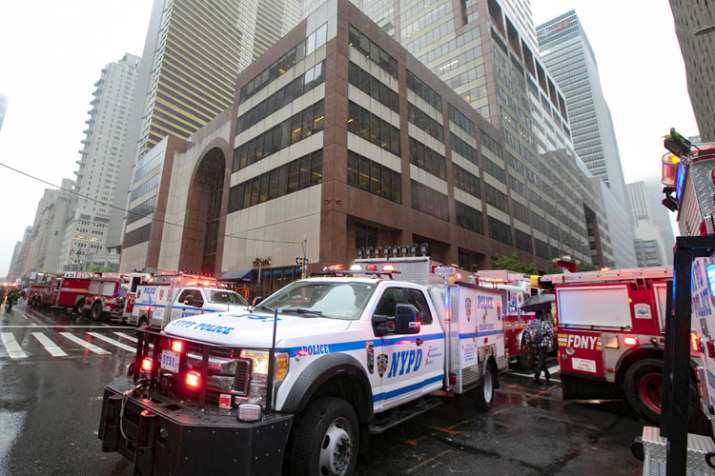 New York City Police and Fire Department vehicles