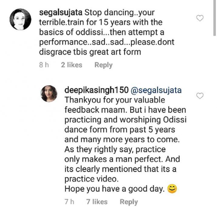Screenshot of Deepika singh post