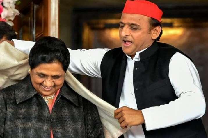 BSP Supremo Mayawati and SP Chief Akhilesh Yadav