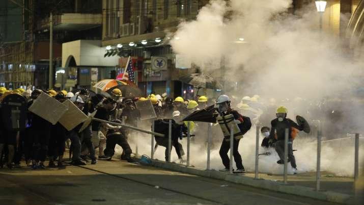 Hong Kong protesters daubed Egg at China Office