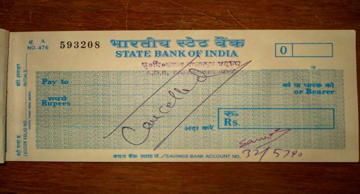 Cheque signed by Capt Saurabh Kalia