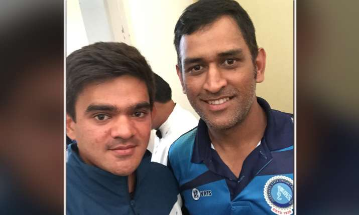Soham Desai With MS Dhoni