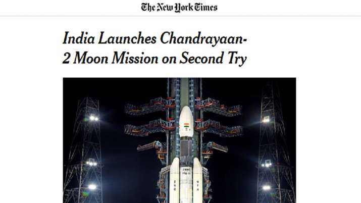 International Media coverage on Chandrayaan-2 Moon Mission