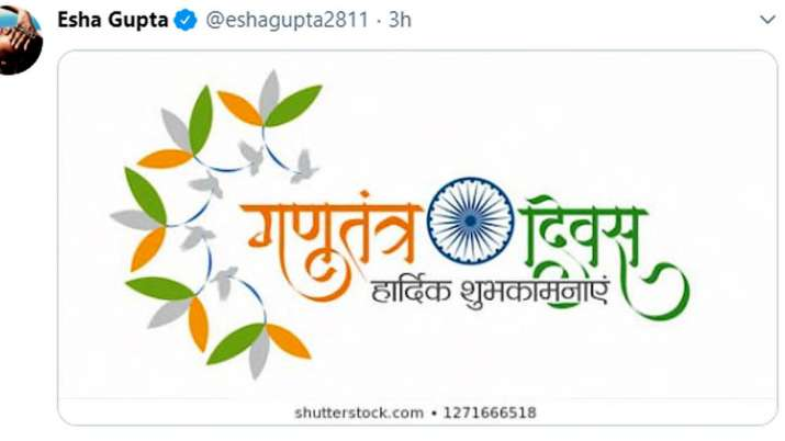 Esha Gupta Tweet