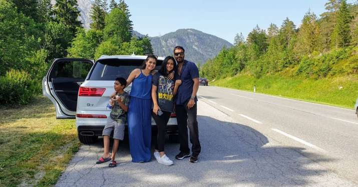 Kajol with family