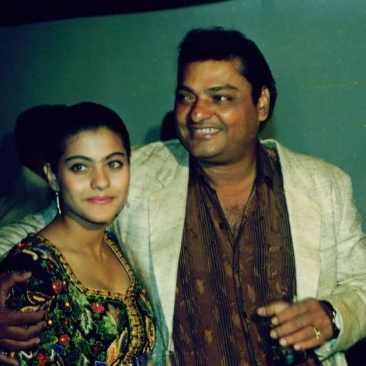 Kajol with father