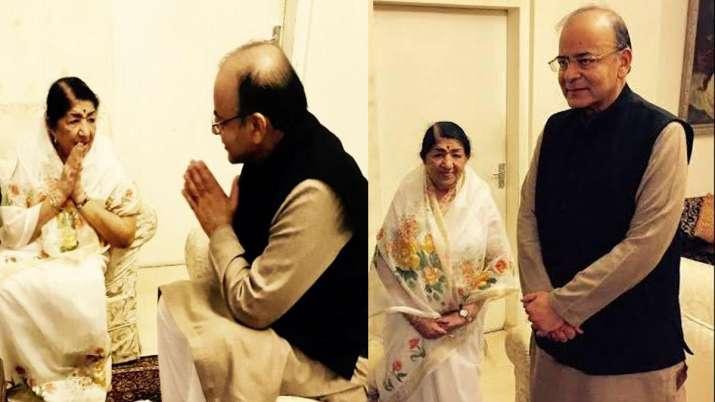 Arun Jaitley and Lata Mangeshkar