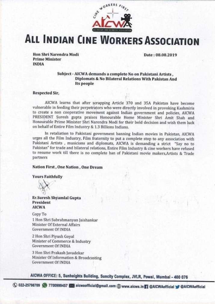 AICWA writes letter to PM Narendra Modi